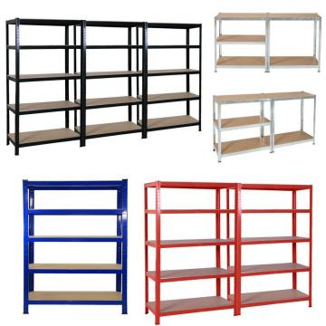 Industrial Warehouse Storage Steel Slotted Angle Light Duty Rack Shelf Shelving